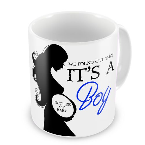 Personalised We Found Out That It's A Boy Novelty Gift Mug
